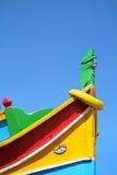 Τόξο της Μάλτα Luzzu με τα παραδοσιακά χρώματα στοκ εικόνες