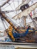 Τόξο του ψηλού σκάφους Gotheborg Στοκ εικόνα με δικαίωμα ελεύθερης χρήσης