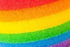 Τόξο-χρωματισμένα λωρίδες στο σφουγγάρι Στοκ εικόνες με δικαίωμα ελεύθερης χρήσης