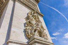 τόξο de Γαλλία Παρίσι triomphe Στοκ φωτογραφία με δικαίωμα ελεύθερης χρήσης