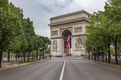 τόξο de Γαλλία Παρίσι triomphe Στοκ Φωτογραφία