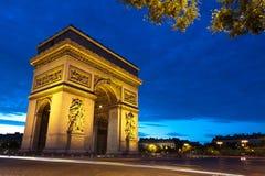 τόξο de Παρίσι triomphe Στοκ φωτογραφία με δικαίωμα ελεύθερης χρήσης