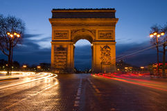 τόξο de Παρίσι triomphe Στοκ εικόνα με δικαίωμα ελεύθερης χρήσης