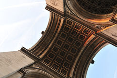 τόξο de Παρίσι triomphe Στοκ Εικόνες