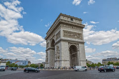 τόξο de Παρίσι triomphe Στοκ εικόνες με δικαίωμα ελεύθερης χρήσης
