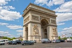 τόξο de Παρίσι triomphe Στοκ Εικόνα