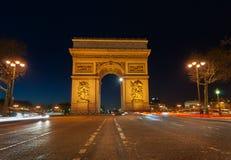Τόξο de triomphe Παρίσι Στοκ Εικόνα