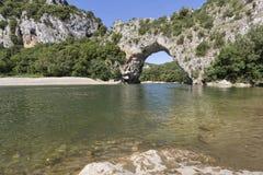 Τόξο δ ` Pont στη νότια Γαλλία, Ευρώπη Στοκ Εικόνα