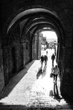Τόξο Xelmirez στο Σαντιάγο de Compostela Στοκ φωτογραφία με δικαίωμα ελεύθερης χρήσης