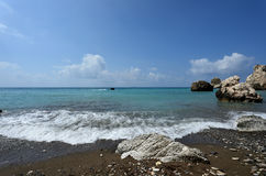 Τόπος γέννησης της θεάς Aphrodite, Κύπρος Στοκ εικόνες με δικαίωμα ελεύθερης χρήσης