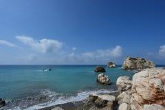 Τόπος γέννησης της θεάς Aphrodite, Κύπρος Στοκ Εικόνες