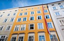 Τόπος γεννήσεως του Βόλφγκανγκ Αμαντέους Μότσαρτ Στοκ εικόνες με δικαίωμα ελεύθερης χρήσης