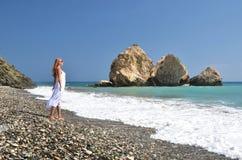 Τόπος γεννήσεως Aphrodite, Κύπρος Στοκ φωτογραφία με δικαίωμα ελεύθερης χρήσης