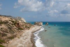 Τόπος γεννήσεως Aphrodite s της Κύπρου Στοκ φωτογραφίες με δικαίωμα ελεύθερης χρήσης