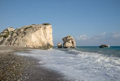 Τόπος γεννήσεως Aphrodite s της Κύπρου Στοκ Φωτογραφίες