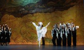 Τόσο εύθυμος όσο ένα lark-μπαλέτο το κορίτσι από Arles στοκ φωτογραφίες
