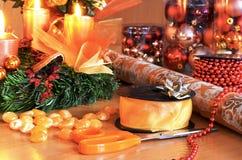 τύλιγμα δώρων Χριστουγένν&ome στοκ φωτογραφία