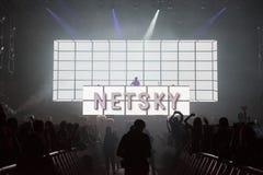 Τύμπανο και βαθύ DJ στη ζωντανή συναυλία στοκ φωτογραφία με δικαίωμα ελεύθερης χρήσης