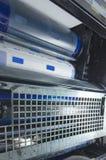 Τύμπανο στη μηχανή εκτύπωσης roto όφσετ Στοκ Φωτογραφίες