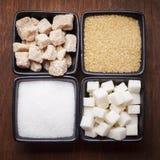 Τύποι ζάχαρης στοκ φωτογραφίες