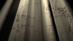 Τύποι και γραφικές παραστάσεις πετάγματος μαθηματικοί Loopable ελεύθερη απεικόνιση δικαιώματος