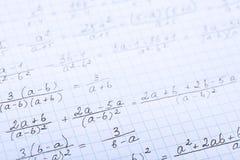 Τύποι μαθηματικών στοκ εικόνες με δικαίωμα ελεύθερης χρήσης