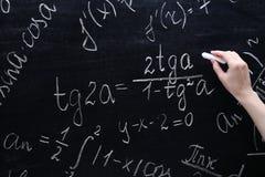 Τύποι μαθηματικών στοκ φωτογραφία