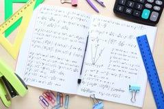 Τύποι μαθηματικών στοκ εικόνα με δικαίωμα ελεύθερης χρήσης