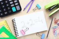 Τύποι μαθηματικών στοκ φωτογραφία με δικαίωμα ελεύθερης χρήσης