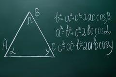 Τύποι μαθηματικών στοκ εικόνες