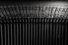 Τύποι παλαιών γραφομηχανών Στοκ φωτογραφίες με δικαίωμα ελεύθερης χρήσης