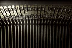 Τύποι παλαιών γραφομηχανών Στοκ Εικόνα