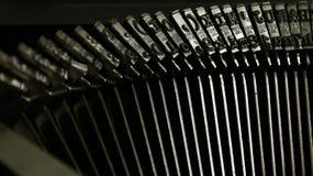 Τύποι παλαιών γραφομηχανών Στοκ Φωτογραφίες