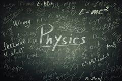 Τύποι φυσικής στοκ εικόνα