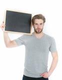 Τύπος ή όμορφος πίνακας εκμετάλλευσης ατόμων που απομονώνεται στο άσπρο υπόβαθρο Στοκ εικόνα με δικαίωμα ελεύθερης χρήσης