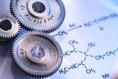 Τύπος αντίδρασης χημικών ουσιών και μηχανικοί αναστολείς Στοκ εικόνες με δικαίωμα ελεύθερης χρήσης