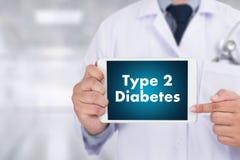 Τύπος - γιατρός διαβήτη 2 μια ιατρική έννοια υγείας ασθενειών δοκιμής Στοκ εικόνες με δικαίωμα ελεύθερης χρήσης
