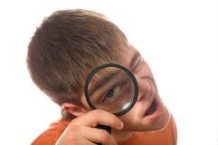 τύπος γυαλιού που ενισχύει nerd Στοκ φωτογραφία με δικαίωμα ελεύθερης χρήσης