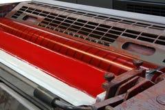 Τύπος εκτύπωσης μηχανών τυπωμένων υλών Στοκ φωτογραφία με δικαίωμα ελεύθερης χρήσης