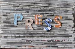 Σωρός των εφημερίδων. Στοκ φωτογραφία με δικαίωμα ελεύθερης χρήσης