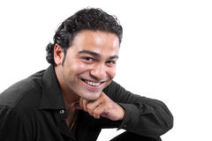 τύπος ευτυχής Ινδός Στοκ εικόνες με δικαίωμα ελεύθερης χρήσης