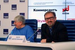 Τύπος-διάσκεψη του διεθνούς φεστιβάλ ταινιών της 38ης Μόσχας Στοκ εικόνα με δικαίωμα ελεύθερης χρήσης