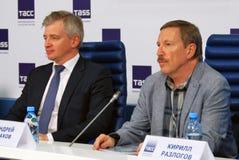 Τύπος-διάσκεψη του διεθνούς φεστιβάλ ταινιών της 38ης Μόσχας Στοκ Εικόνα