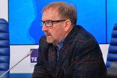 Τύπος-διάσκεψη του διεθνούς φεστιβάλ ταινιών της 38ης Μόσχας Στοκ Φωτογραφίες