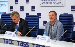 Τύπος-διάσκεψη του διεθνούς φεστιβάλ ταινιών της 38ης Μόσχας Στοκ Φωτογραφία