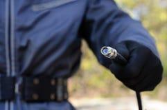 Τύπος καλωδίων που κρατά το οπτικό καλώδιο Στοκ εικόνα με δικαίωμα ελεύθερης χρήσης