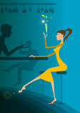 τύπος κοριτσιών κατανάλω&sigm Στοκ Εικόνα