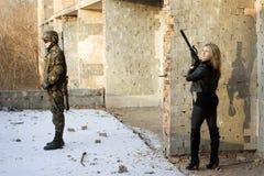 τύπος κοριτσιών στόχου Στοκ εικόνα με δικαίωμα ελεύθερης χρήσης
