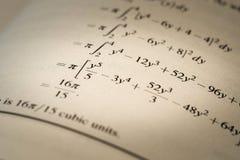 Τύπος μαθηματικών στοκ εικόνες