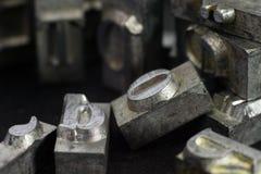 τύπος μετάλλων Στοκ φωτογραφίες με δικαίωμα ελεύθερης χρήσης